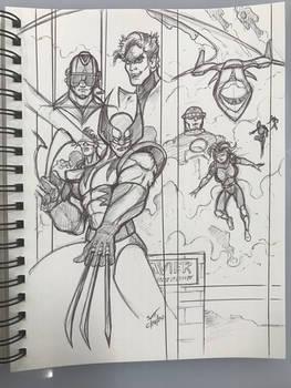 X-men sketch