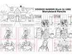 Voodoo Ranger Stuck In The 80s storyboard Pencils by stourangeau