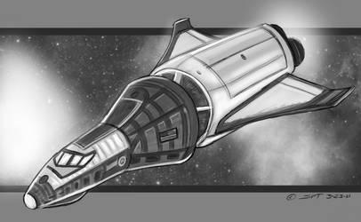 Lunar lander concept by stourangeau