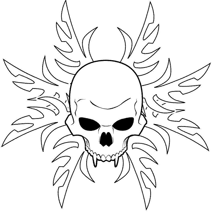 Skull Line Drawing Tattoo : Line art skulls video search engine at