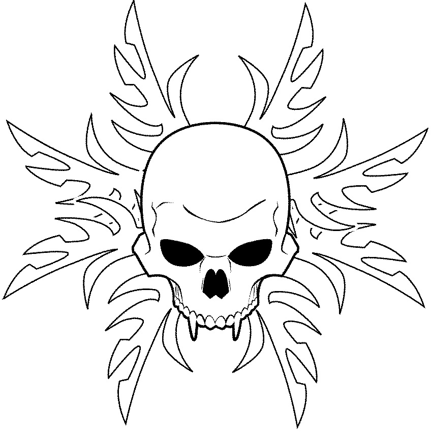It's just a graphic of Eloquent Tribal Skull Drawing