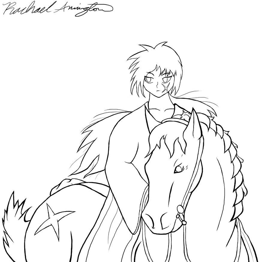 Kenshin Riding a Horse by XxGaaraloverxX