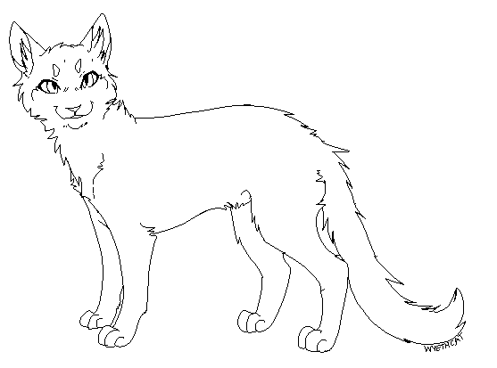 Cat lineart by BlitzEngles on DeviantArt