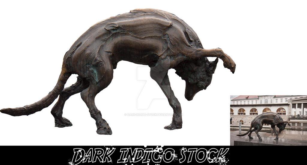 Creppy dog statue V1 + RAW by Dark-Indigo-Stock