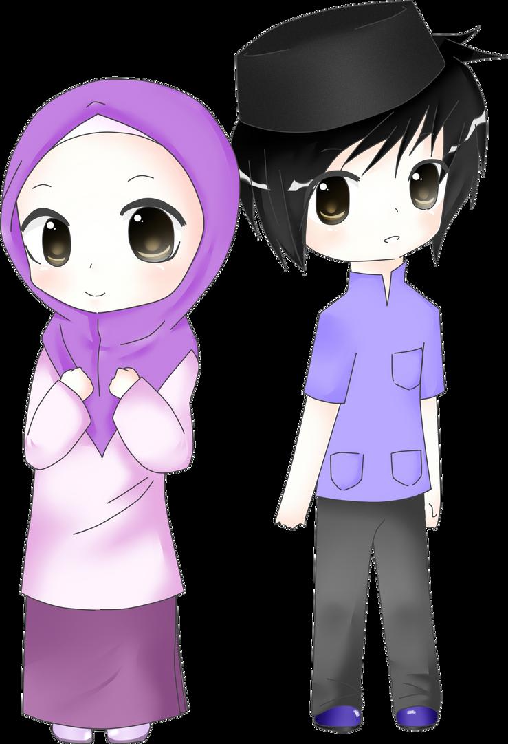 Gambar Kartun Muslimah Chibi Muslim Nichi09 Deviantart Lucu