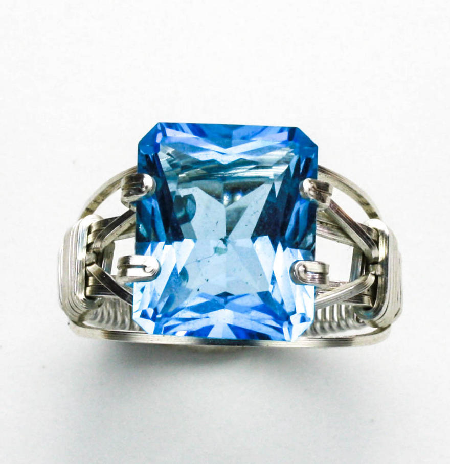 Blue Topaz Ring by skezzcrom
