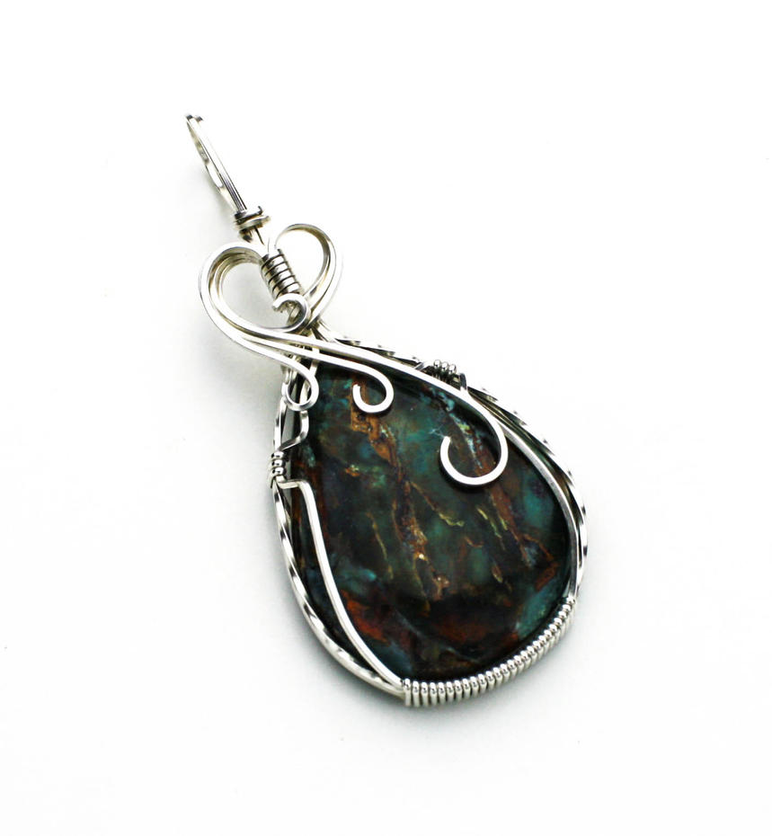 Plasma Agate Pendant by skezzcrom