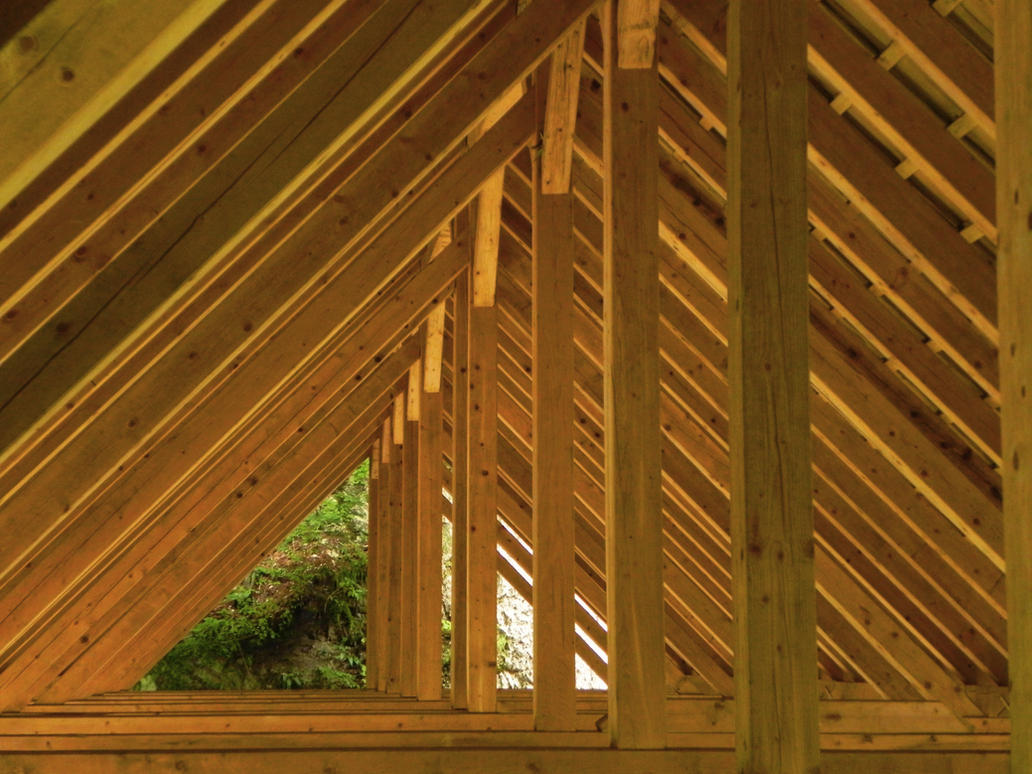 Wooden roof by AntaresAquarii