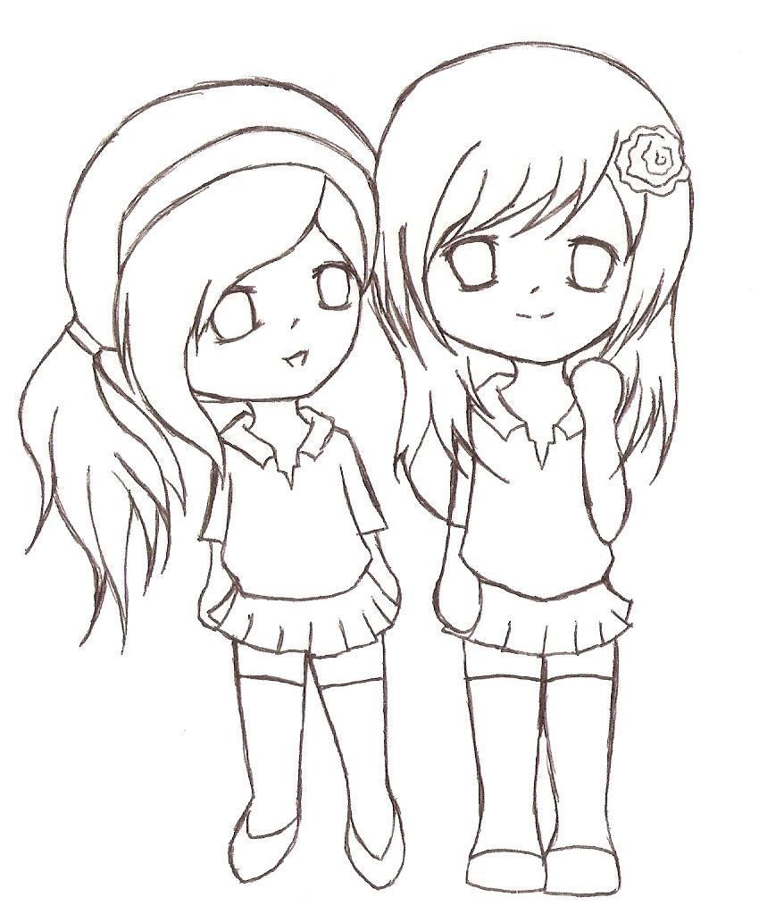 Mejores amigas para dibujar  Imagui
