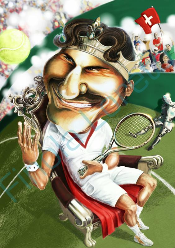 Dibujos de Roger Federer - Página 6 Roger_Federer_caricature_by_shalola