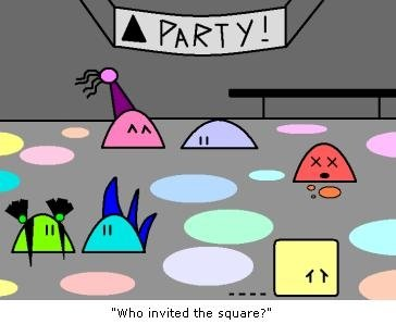 Triangle Party by auroraailuros