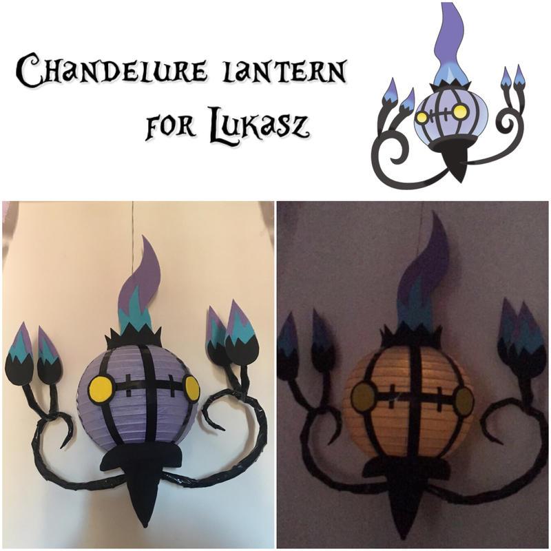 Chandelure Lantern for Lukasz by auroraailuros