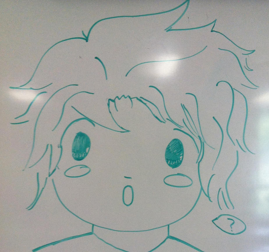 Random chibi dry erase marker drawing by jaidaalnahdiah for Stuff to draw on a whiteboard
