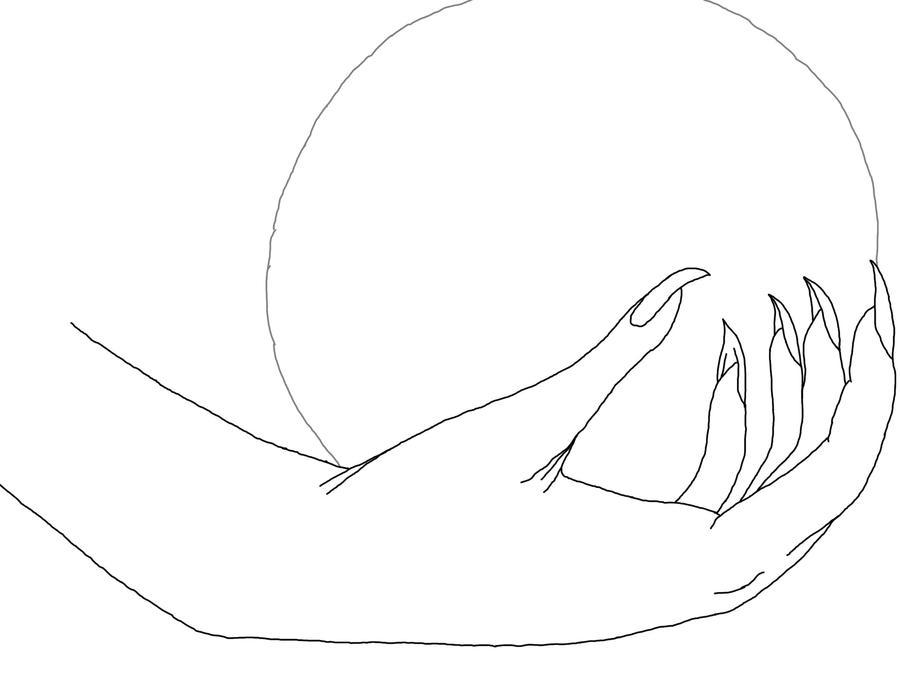 vampire hand lineart by doragon seiei on deviantart