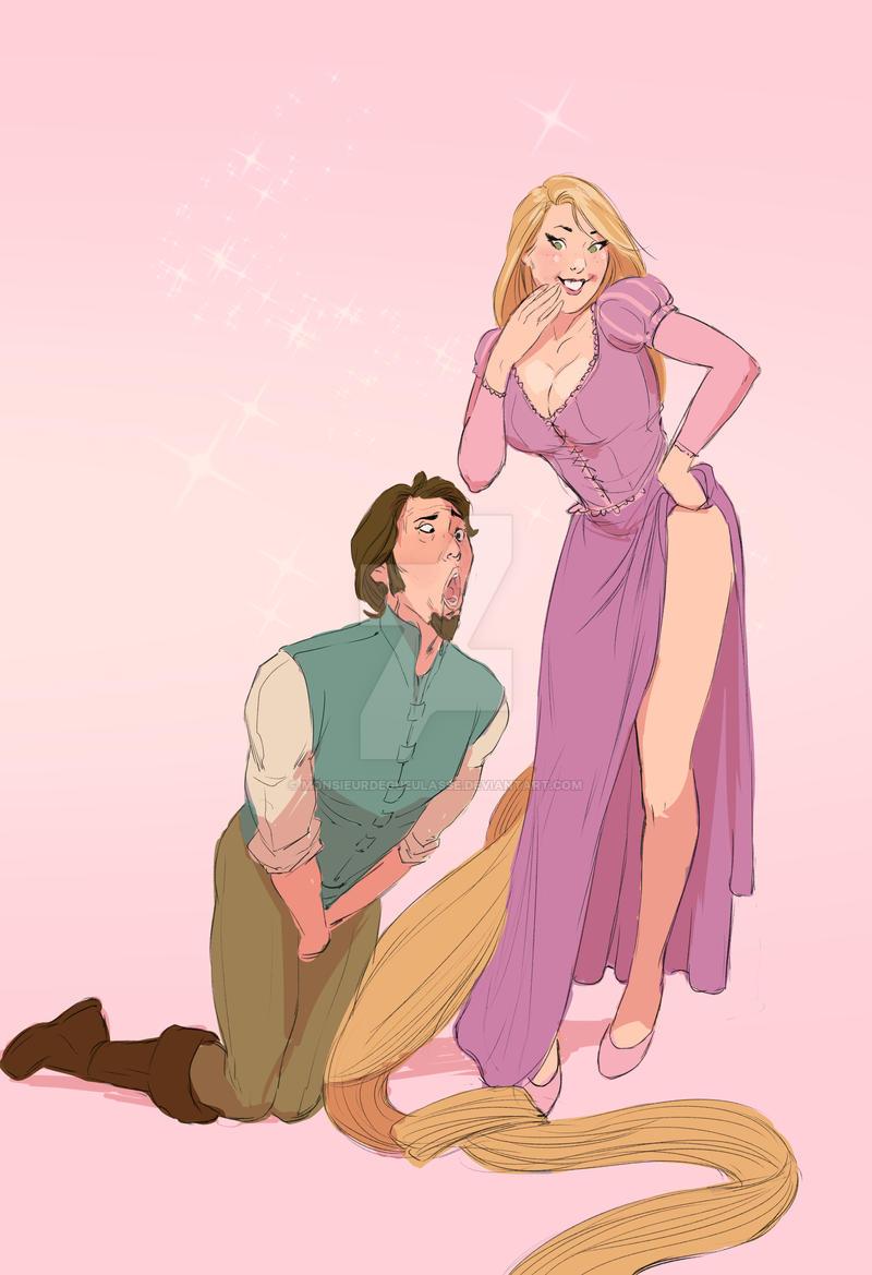 Rapunzel Ballbust by MonsieurDegueulasse on DeviantArt