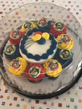 My Nintendo Birthday Cake and Cupcakes