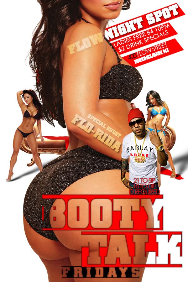 Booty Talk Flyer By Idphh