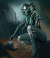 Sci fi archeologist by FeilMagnus