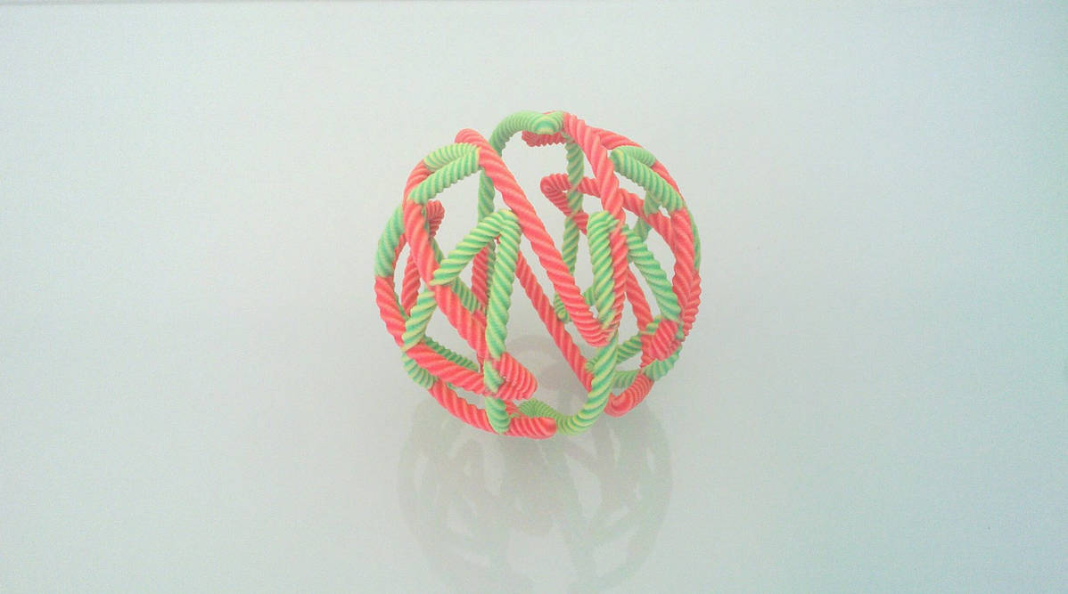 Sandstone String Ball 1 by llewelld