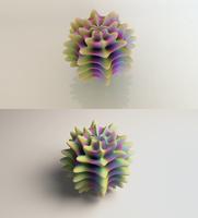 Alient Egg Print vs. Render