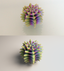Alient Egg Print vs. Render