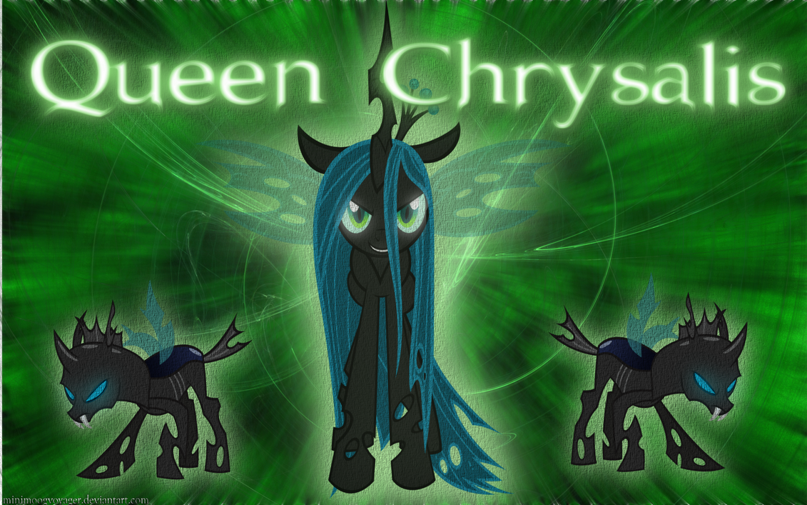 Queen Chrysalis Wallpaper by MinimoogVoyager