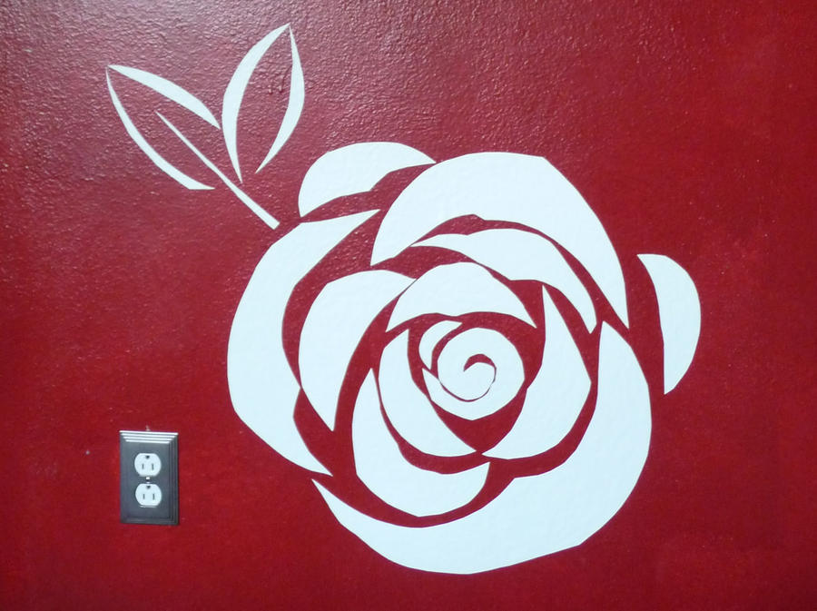Rose - Quick-Fix Wall Decor by Karenee-Art