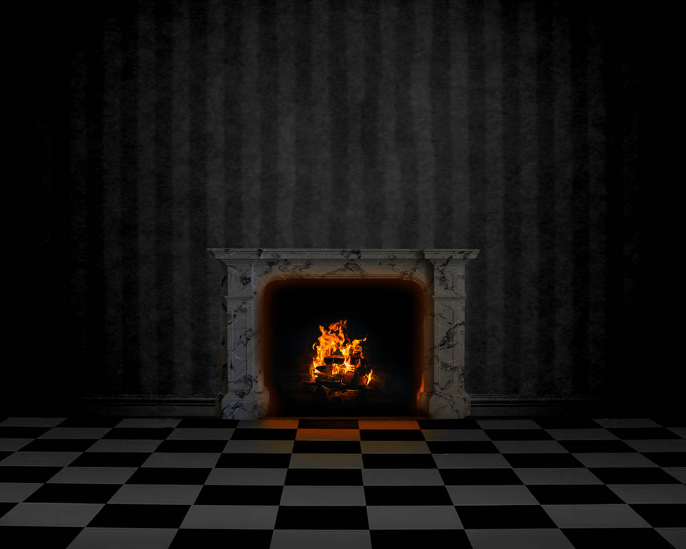 Premade Background: Room With Fireplace
