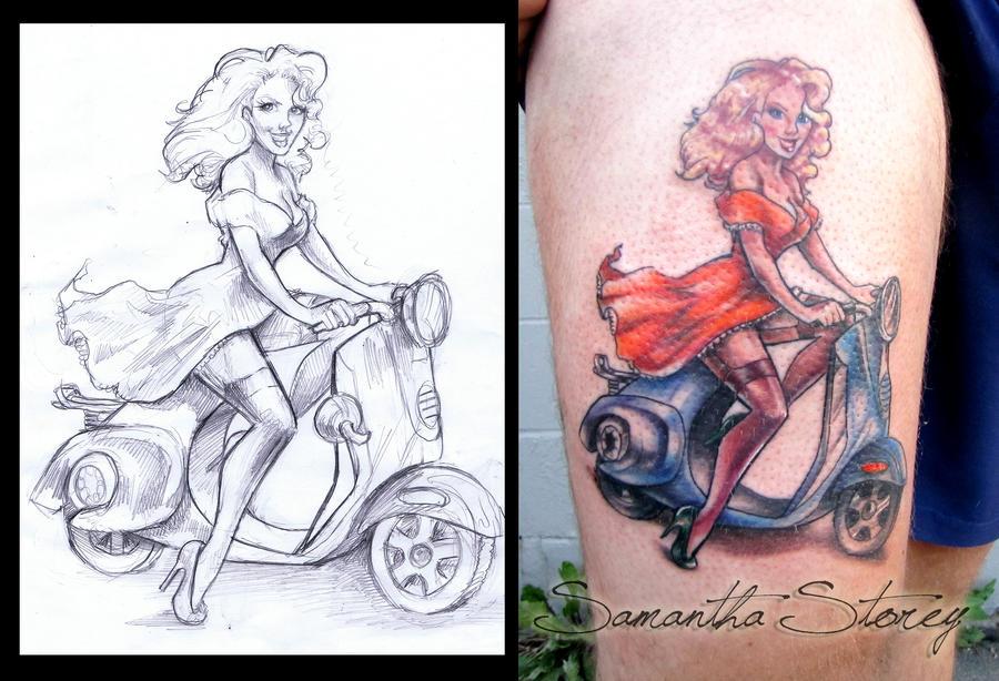 Custom Pin Up Tattoo by illogan