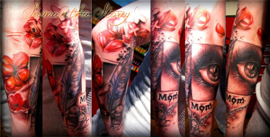 Polka Trash half sleeve by illogan