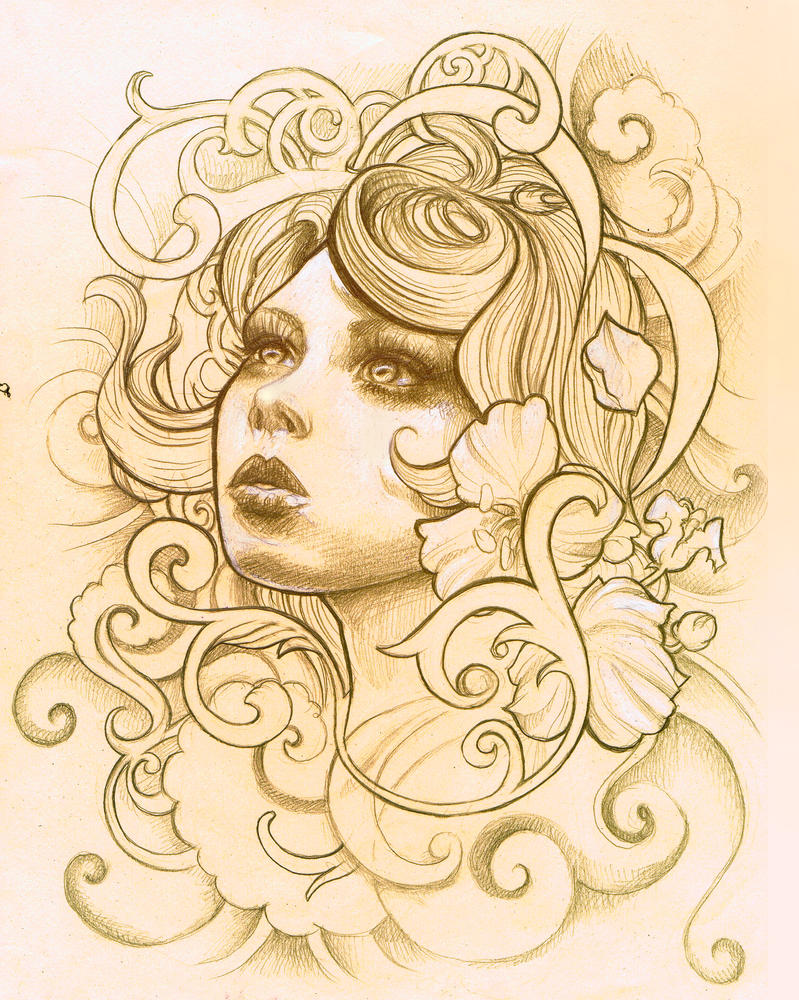 Tattoo design 2 by illogan on deviantart for Drawing design ideas