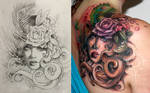 Victorian Cover Up Tattoo
