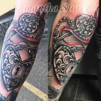 Locket Tattoo by Sam Storey