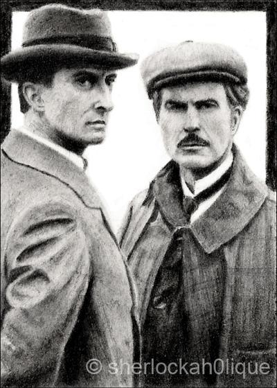 Jeremy Brett, mint Sherlock Holmes - Page 4 Sketch_card___comrades_by_sherlockah0lique-d4fe75r