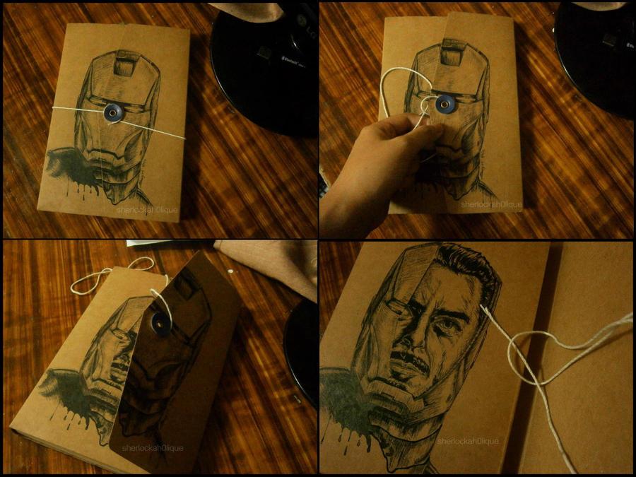 Sketchbook design: Iron Man by ShErLoCkAh0LIQuE