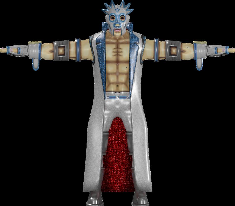 Kenzo Kabuki 3D Model - Front View by rittie145