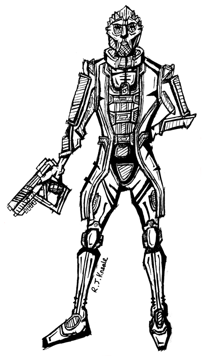 Thane Krios Mass Effect Sketch by rittie145