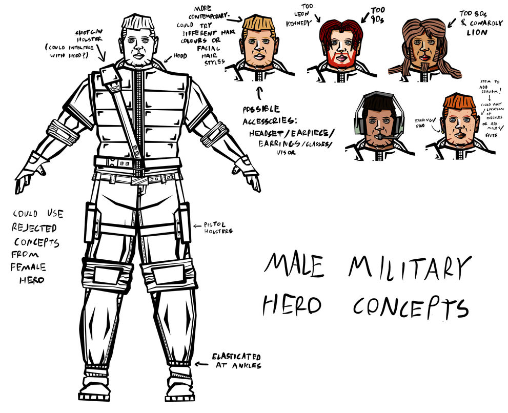 Male Military Hero Concepts #1 by rittie145