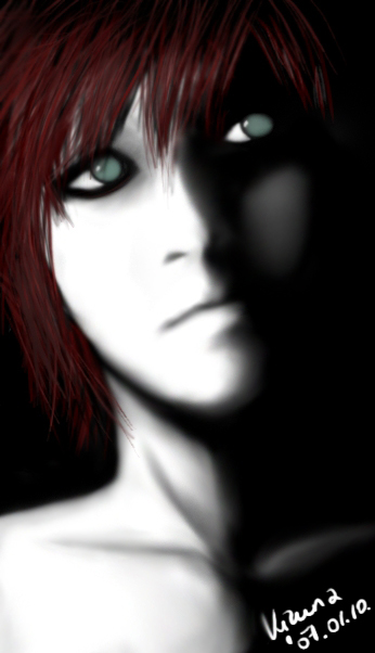 Blood-Red Gaara in the Shadow by SabakuKizu