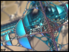 Chain 00 Pong 172 - Rough Blue World by miincdesign