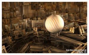 Broken Picture Frames - Beach Ball -Sierp Pong 057 by miincdesign
