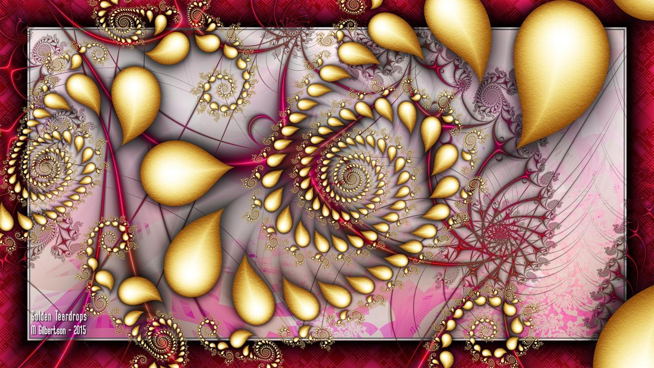 Golden Teardrops by miincdesign