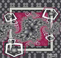UF Chain Pong 332 - Framed Fractal by miincdesign
