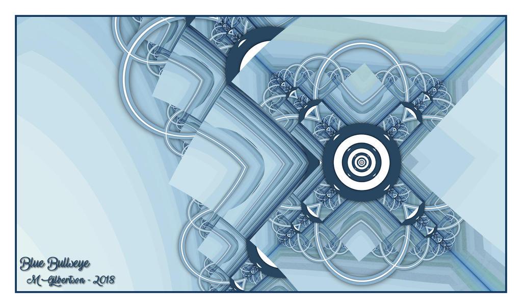 Blue Bullseye-UF Chain Pong 801 by miincdesign