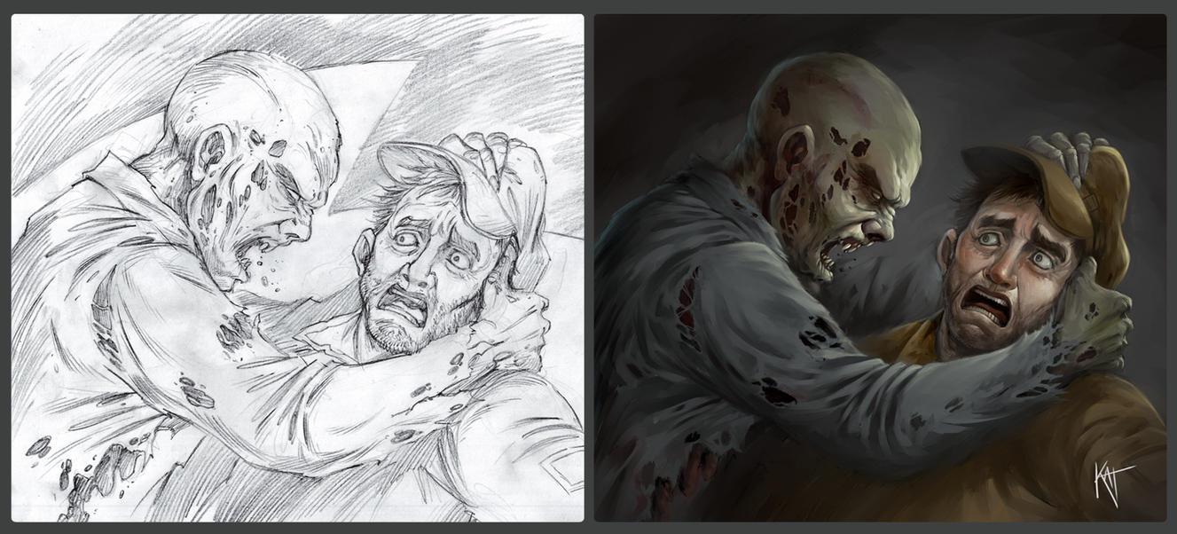 Zombie III by katcanales