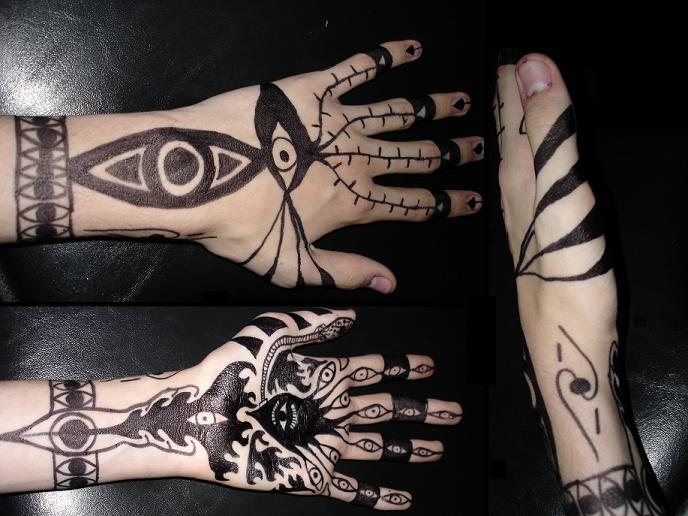 Full Hand Tattoo: Full Hand Sharpie Tattoo By Darrogath On DeviantArt