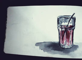 watercolour pages-cherry juice by aquarelka