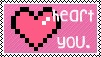 heart you stamp by Sageli