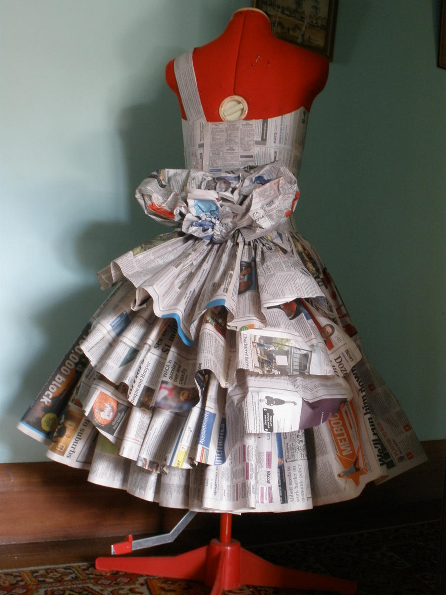 how to make a paper dress to wear