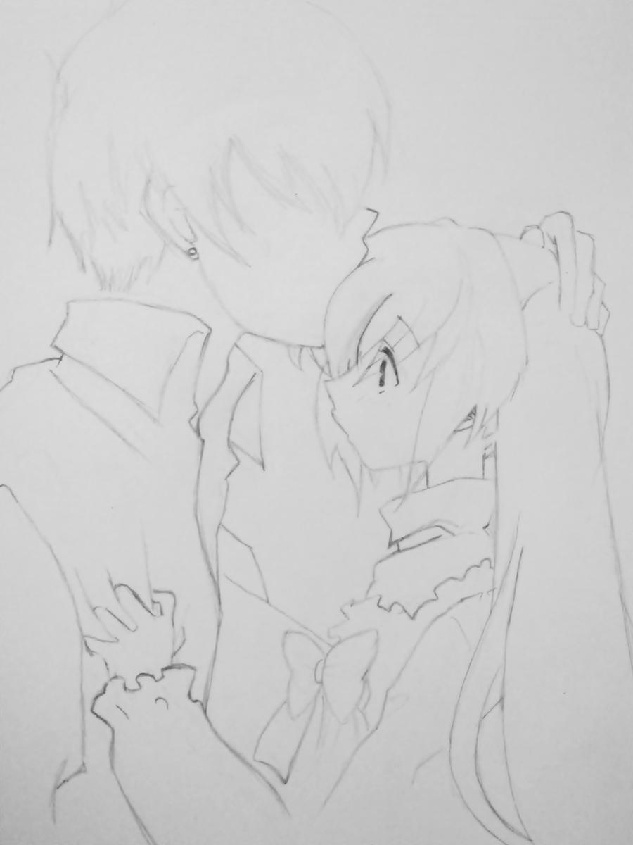 Anime Couple Sketch Easy | Www.imgkid.com - The Image Kid Has It!